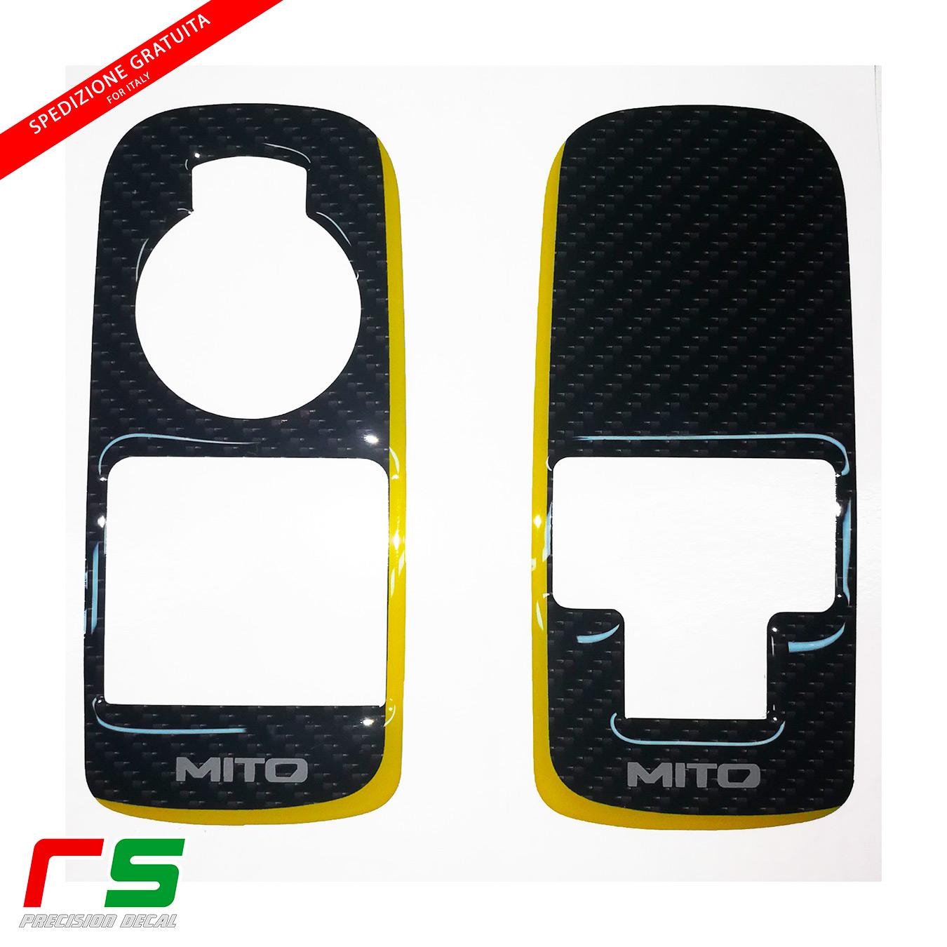 Alfa Romeo Mito resin-coated STICKERS yellow window regulator
