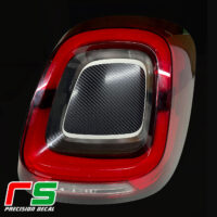 fiat 500X 2019 stickers decal rear lights stop tuning
