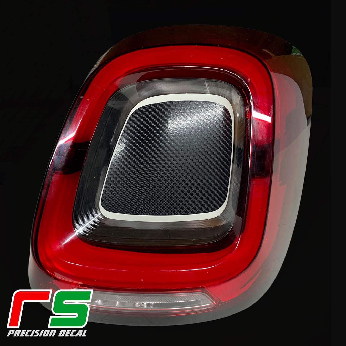Fiat 500X 2019 autocollants décalcomanie feux arrière arrêt tuning