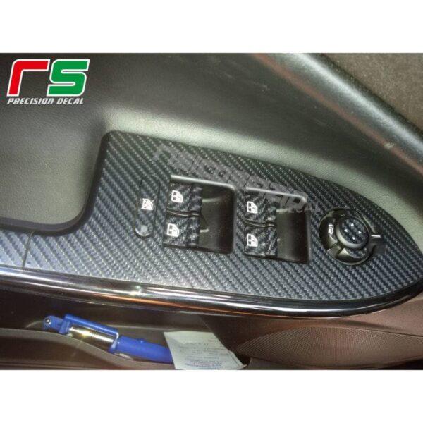 adesivi Alfa Romeo Giulietta carbonlook Decal pulsantiera alzacristalli