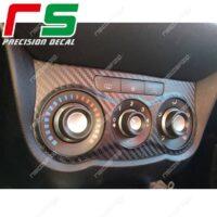 adesivi Alfa Romeo Mito carbon look Decal climatizzatore manuale