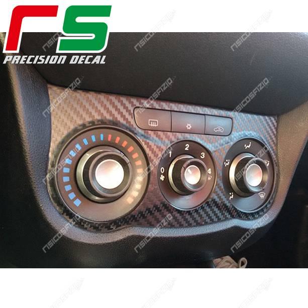 Alfa Romeo MiTo Carbonoptik-Aufkleber manuelle Klimaanlage