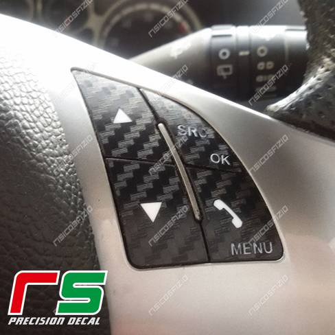 adesivi Alfa Romeo Mito Giulietta Punto 500 comandi volante blueandme
