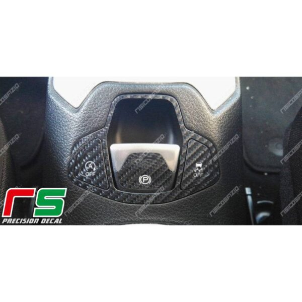 adesivi Jeep Renegade Decal carbonlook tastiera centrale