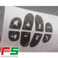 adesivi Alfa Romeo 147 156 GT carbonlook Decal comandi volante
