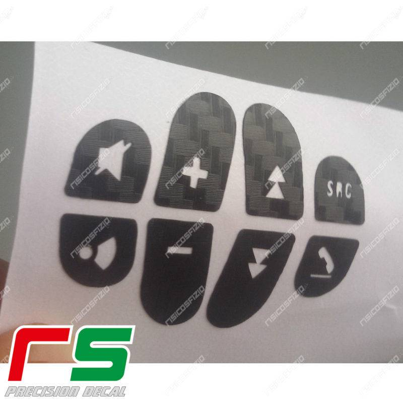 adhésifs Alfa Romeo 147 156 GT sticker commande volant vinyle effet carbone