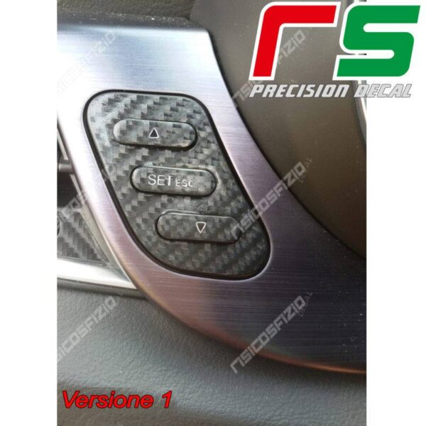 adesivi Alfa Romeo Giulietta carbonlook Decal tasti regolazione fari T1