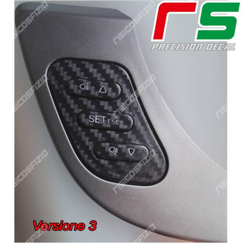 adesivi Alfa Romeo Giulietta carbonlook Decal tasti regolazione fari T3
