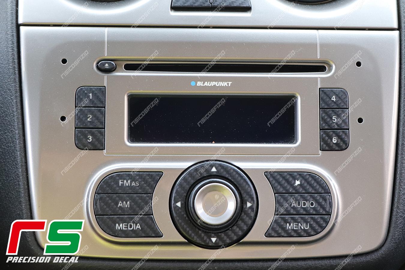 adesivi Alfa Romeo Mito carbon look Decal tasti stereo radio
