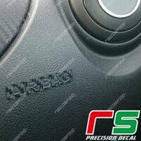 adesivi Alfa Romeo Mito carbon look Decal logo airbag passeggero