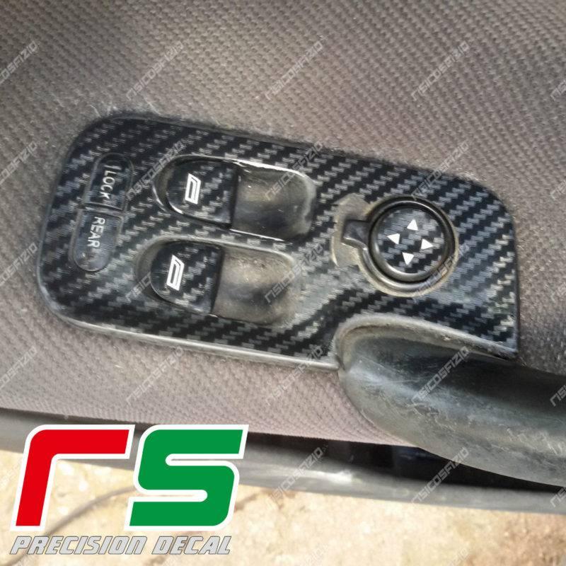 stickers Alfa Romeo 147 carbonlook Decal window regulator full