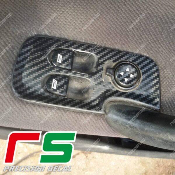 adesivi Alfa Romeo 147 3 porte GT carbonlook isola alzacristalli