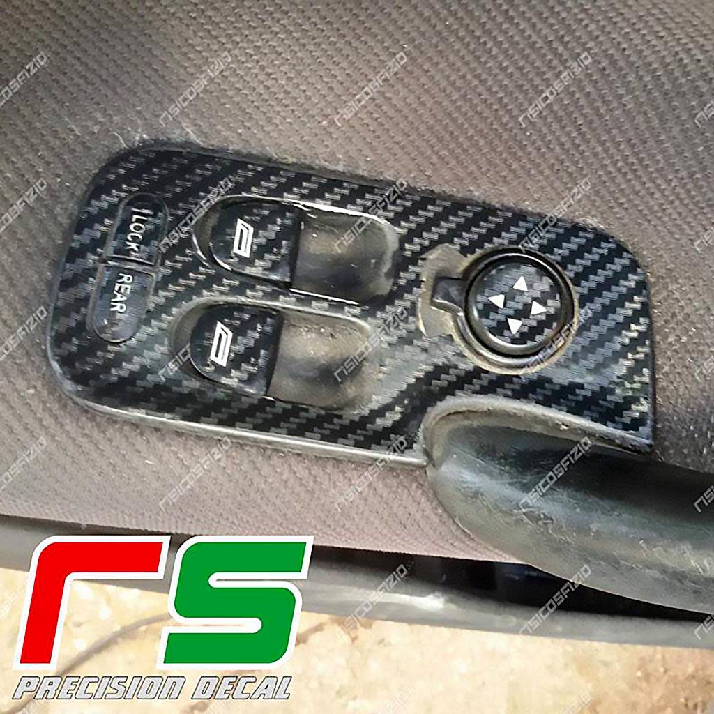 adhésifs Alfa Romeo 147 sticker lève vitres vinyle effet carbone