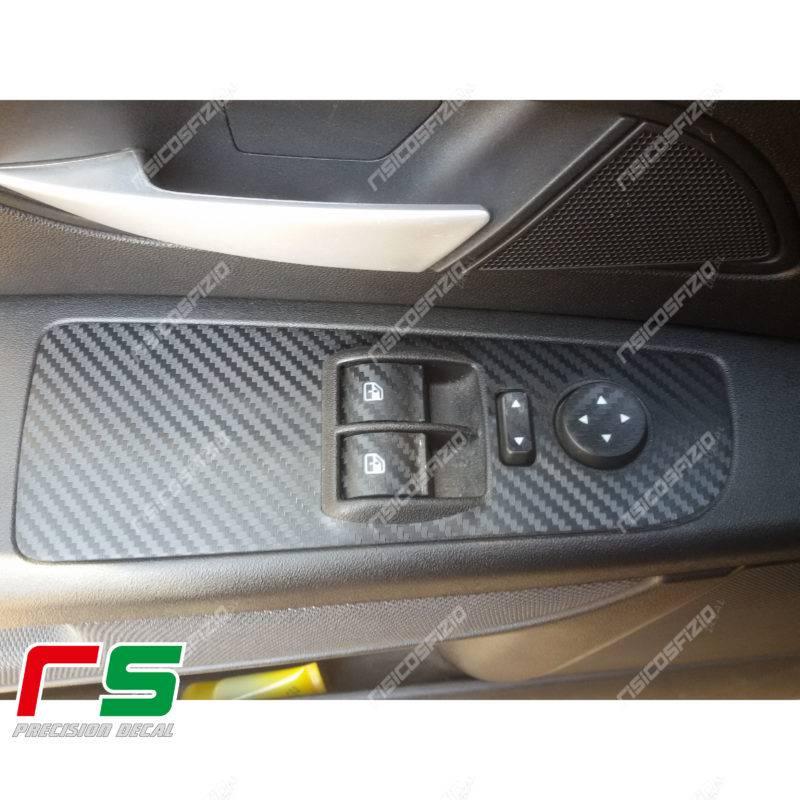 adhésifs Fiat Punto 3 portes sticker lève vitres en vinyle effet carbone