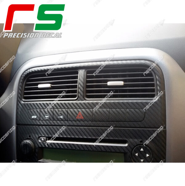 adesivi Fiat Punto carbonlook Decal bocchette climatizzatore