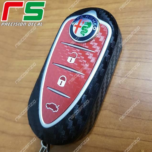 Alfa Romeo MiTo Giulietta 4C Carbonoptik-Aufkleber Schlüsselgummi