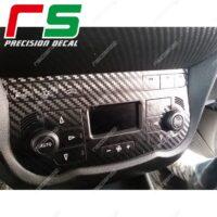 adesivi Alfa Romeo Mito carbon look Decal climatizzatore bizona