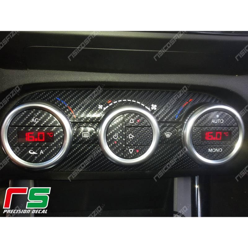 adesivi Alfa Romeo Giulietta carbonlook Decal climatizzatore bizona