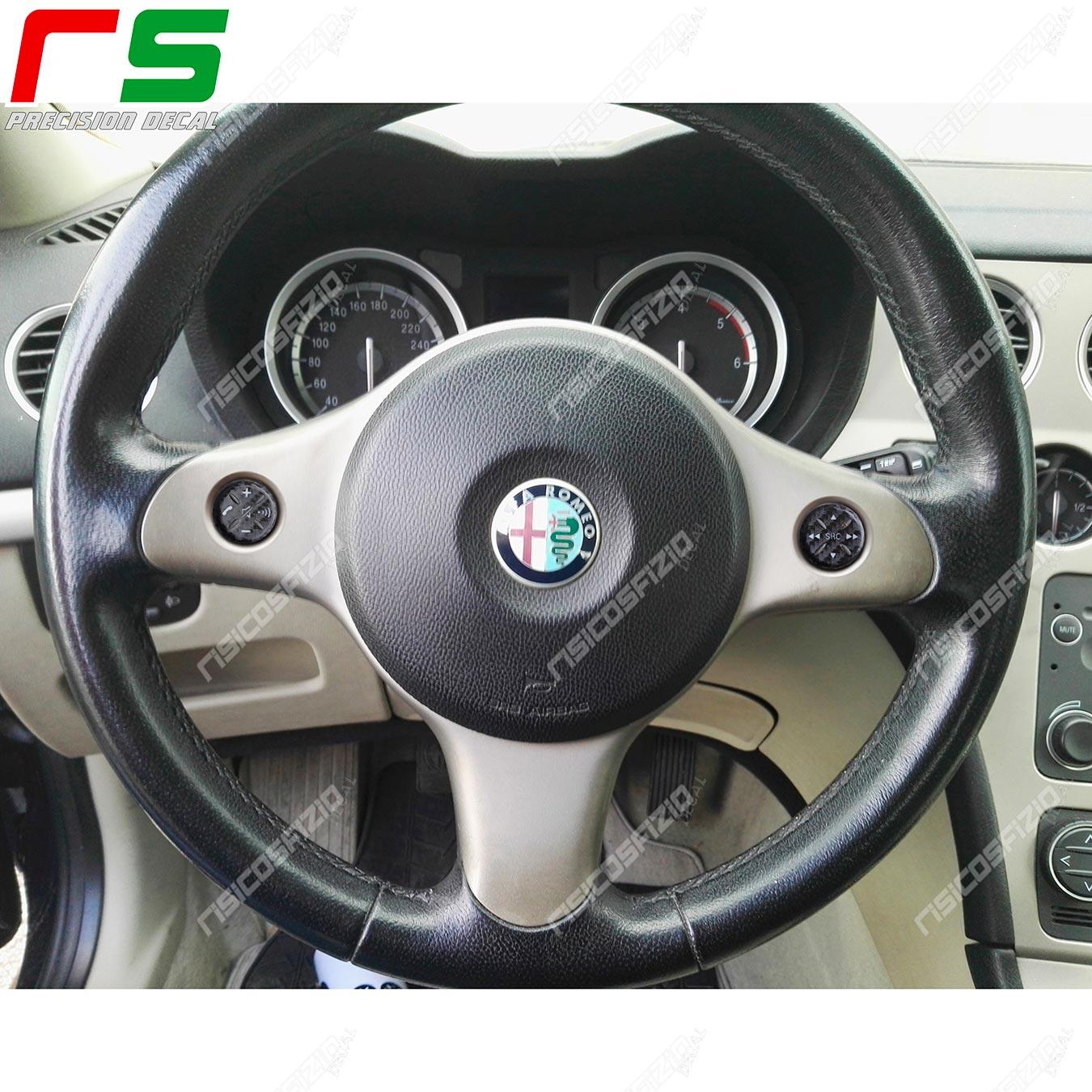 stickers Alfa Romeo 159 carbonlook Decal steering wheel controls