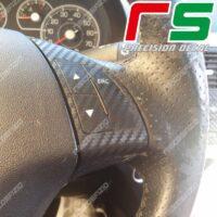 adesivi Fiat Punto Bravo 500 carbonlook Decal comandi volante