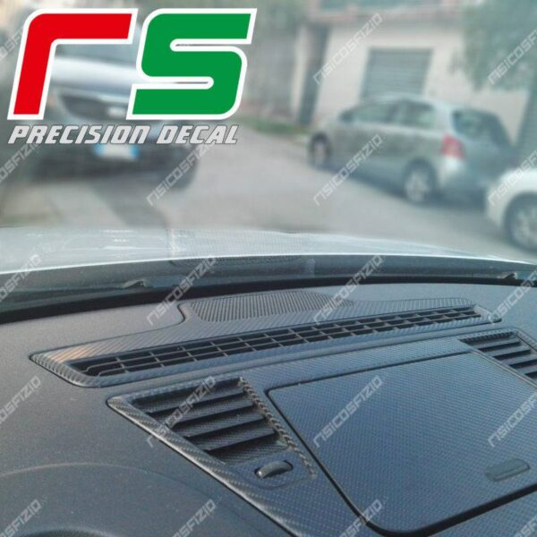 adesivi Alfa Romeo Giulietta carbonlook Decal diffusore aria parabrezza