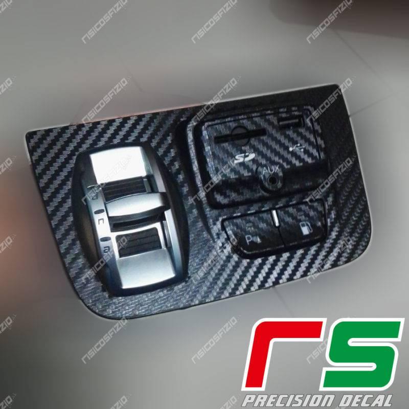 adhésifs Alfa Romeo Giulietta sticker support DNA USB AUX en vinyle effet carbone