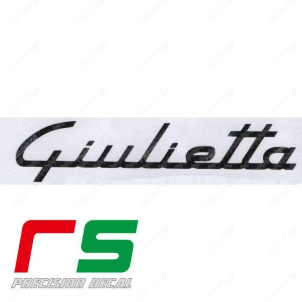 adesivi Alfa Romeo Giulietta logo cruscotto carbonlook