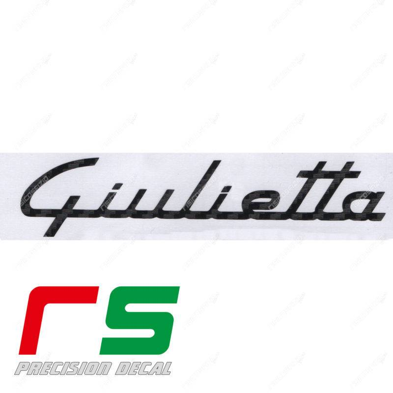 Alfa Romeo Giulietta stickers carbon look dashboard logo