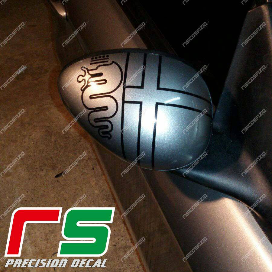 stickers Alfa Romeo 147 156 GT mirrors logo pre 2016