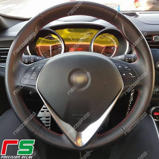 stickers Alfa Romeo Giulietta Mito carbonlook Decal 2014 steering wheel commands