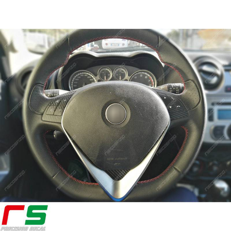 adhésifs Alfa Roméo Mito Giulietta commandes volant vinyle effet carbone
