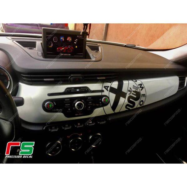 adesivi Alfa Romeo Giulietta carbonlook Decal decorazione cruscotto logo