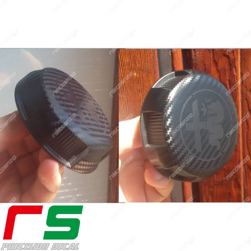 Fiat 500 abarth carbon stickers look for seat adjustment knobs