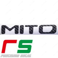 adesivi Alfa Romeo Mito carbon look logo 2016 decal