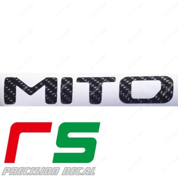adesivi Alfa Romeo Mito carbon look logo 2016 decal