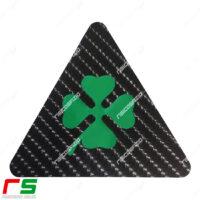 adesivi Alfa Romeo triangolo quadrifoglio carbonlook