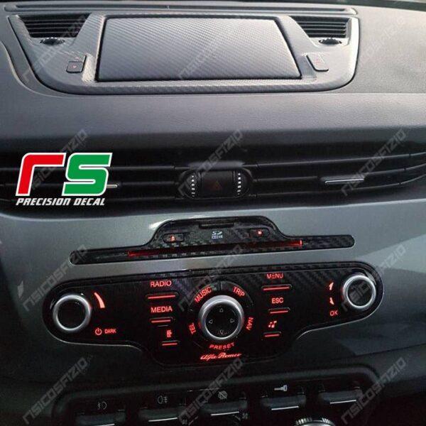 adesivi Alfa Romeo Giulietta carbonlook Decal controller radionav
