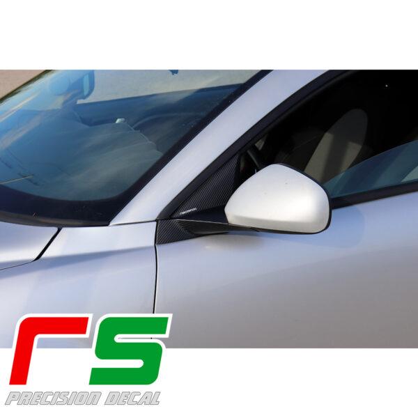 adesivi Alfa Romeo Mito carbonlook Decal supporto specchietto