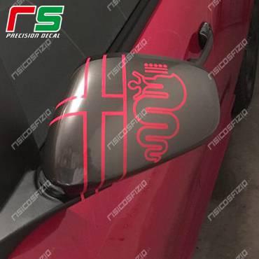 Alfa Romeo MiTo Giulietta 159 vor 2016 Vinyl-Logo Spiegel um den Rückspiegel zu verschönern