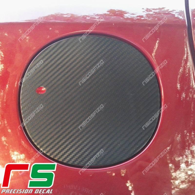 adhésifs Alfa Romeo Giulietta effet carbone sticker trappe a essence