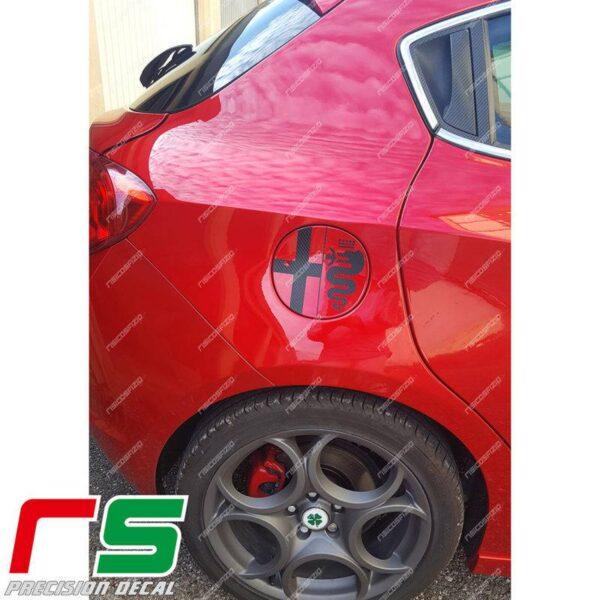 adesivi Alfa Romeo Giulietta Decal carbon look sportello serbatoio logo