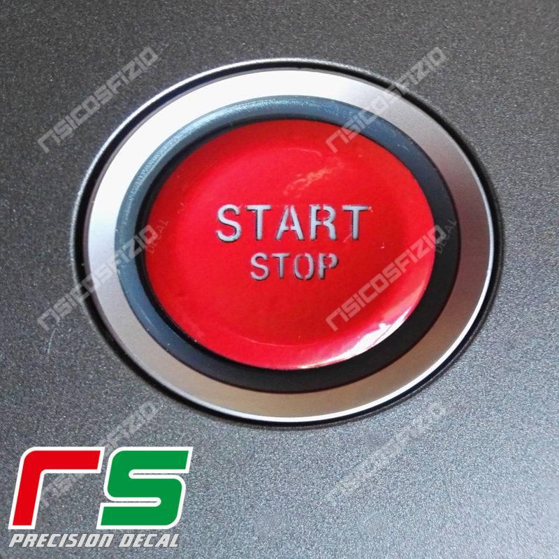 adesivo Alfa Romeo 159 Brera Spider tasto start rosso