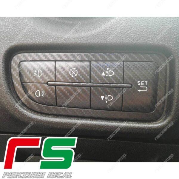 adesivi Alfa Romeo Mito 2014 carbonlook Decal tastiera menu startstop