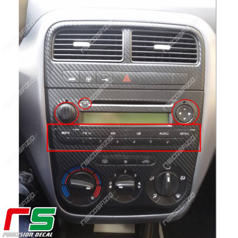 adesivi fiat punto decal tasti stereo radio ripristino. Black Bedroom Furniture Sets. Home Design Ideas