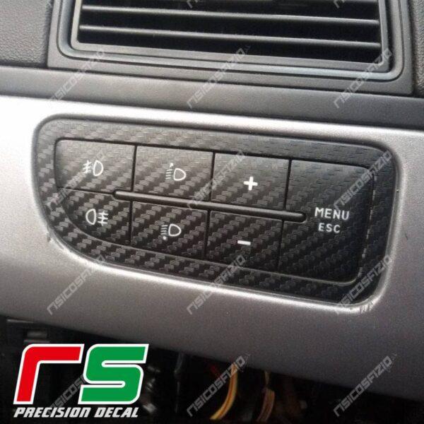adesivi Fiat Punto Decal carbonlook decal tastiera menu