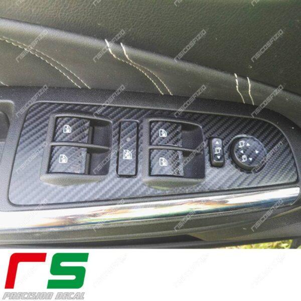 adesivi Fiat Bravo Lancia Delta carbonlook Decal isola alzacristalli