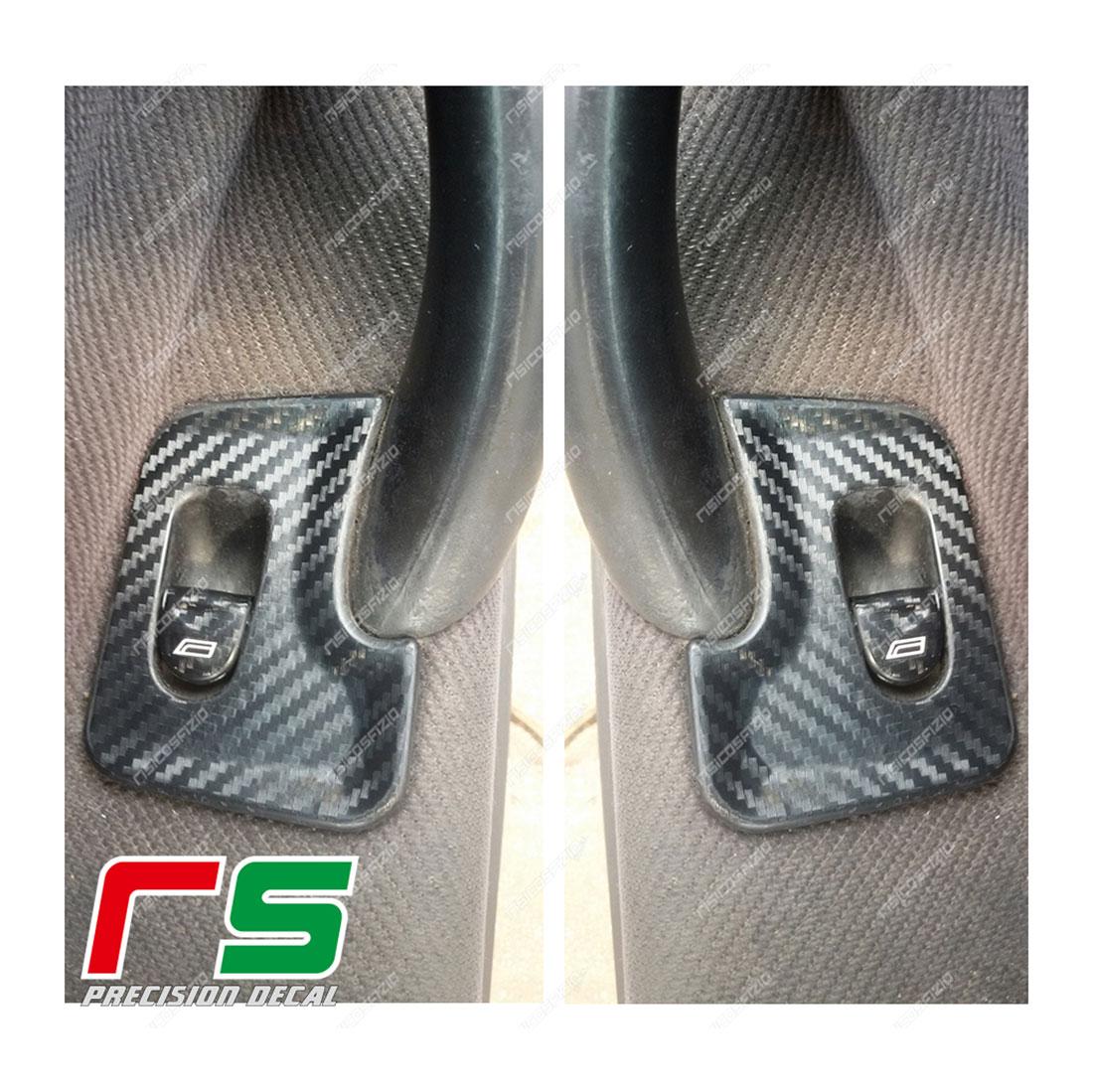 adhésifs Alfa Romeo 147 look carbone stickers vitres arrières