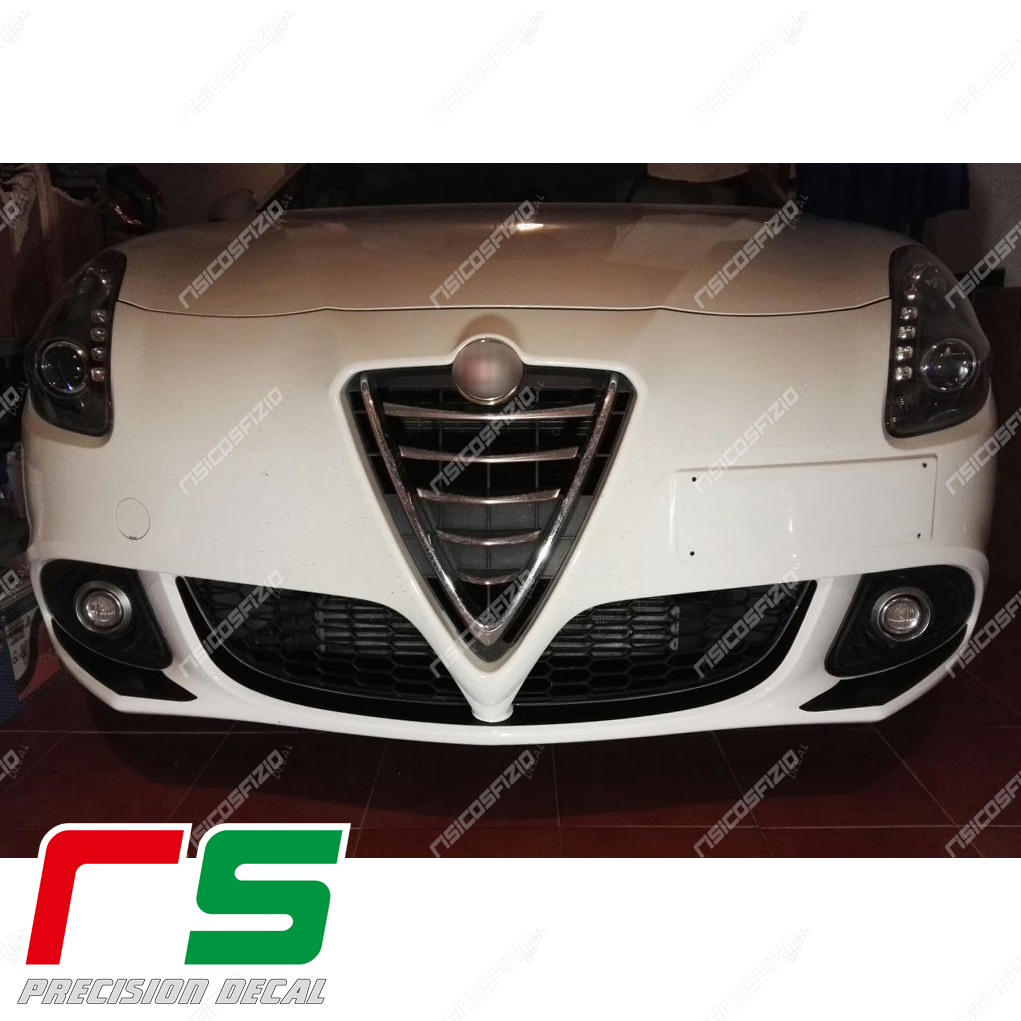 stickers Alfa Romeo Giulietta carbonlook Decal front bumper inserts