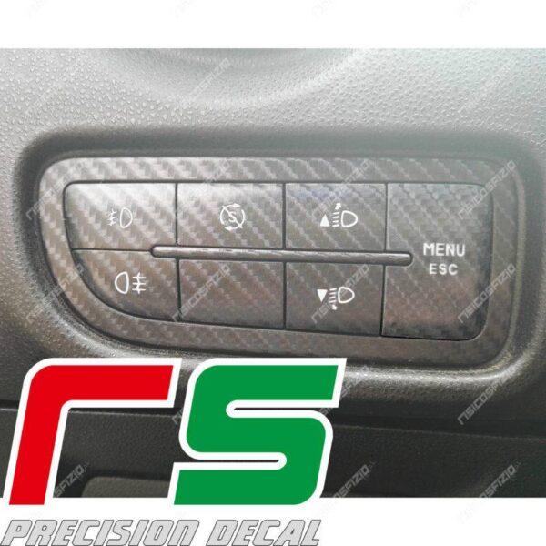 Alfa Romeo MiTo Carbonoptik-Aufkleber Start-Stop Bedienfeld Menü