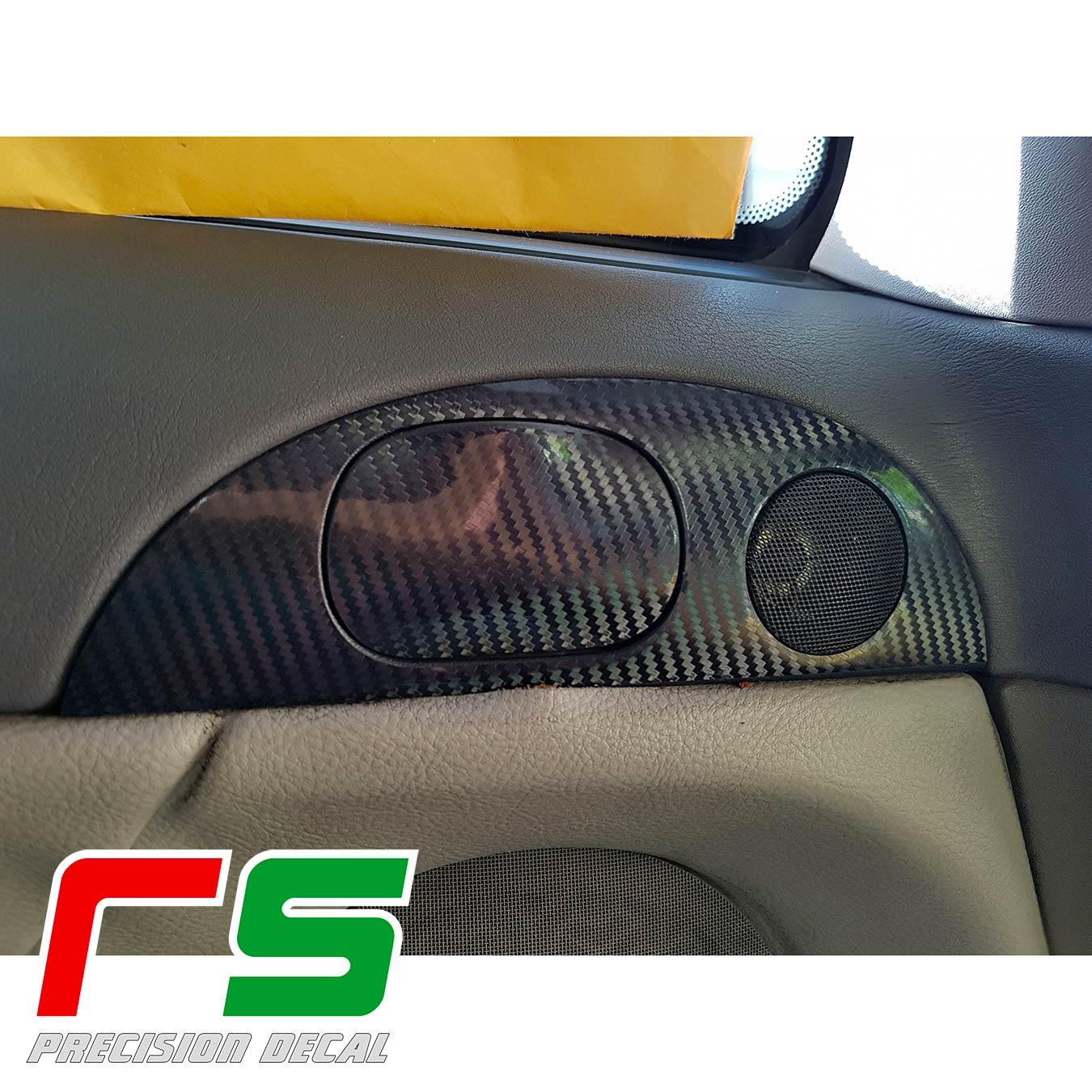 adhésifs Alfa Romeo 147 GT look carbone modénature tweeter sticker